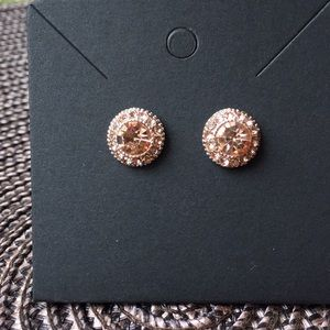 3/$12  Rose Gold Rhinestone Stud Earrings